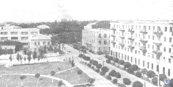 Улица им. Фрунзе в Амвросиевне, 1974 г.