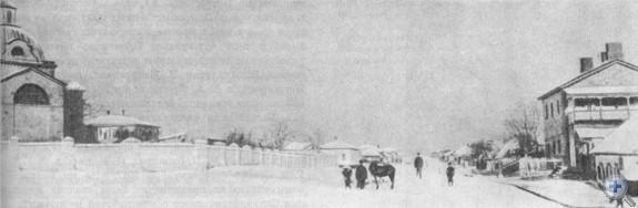 Одна из центральных улиц Лисичанска. 1914 г.