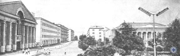 Улица Ворошилова в Лисичанске. 1966 г.