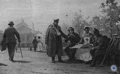 В. М. Савин. «М. И. Ульянова во Львове» (1915 г.). Масло, 1965 г.