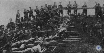 Группа разведчиков Первой Конной армии, действовавшей на Львовщине в 1920 году.