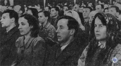 В зале заседаний Народного Собрания Западной Украины. Львов, 26—28 октября 1939 г.