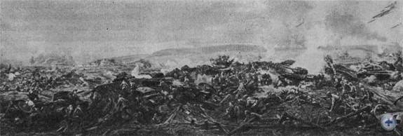 Панорама разгрома фашистского окружения под Бродами в 1944 году.