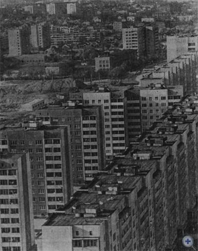 Новостройки на улицах Артема и Научной. Львов. 1977 г.