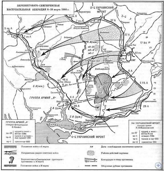 Березнеговато-Снигиревская наступательная операция 6—18 марта 1944 г.