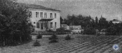 Центральная площадь села Александровки. 1980 г.