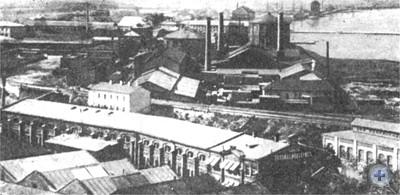 Одно из первых предприятий Одессы — механический завод Беллино-Фендериха. 1860 г.