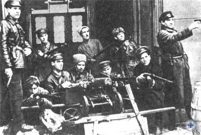 Одна из боевых ячеек Красной гвардии. Одесса, 1917 г.