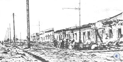 Портовые склады, разрушенные в период австро-германской оккупации. Одесса. 1918 г.