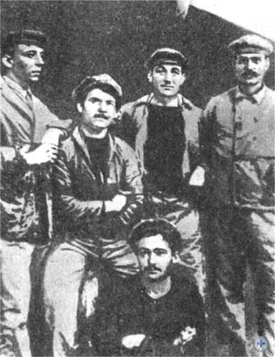Группа французских моряков, активных участников революционных выступлений в Одессе в период англо-французской интервенции. 1919 г.
