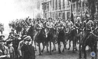 Вступление конницы ГИ. Котовского в Одессу. 1920 г.