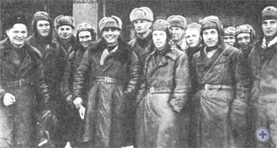 Группа летчиков 69-го истребительного авиационного полка. Сентябрь 1941 г.