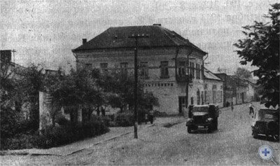 Центральная улица в Косинах. 1980 г.