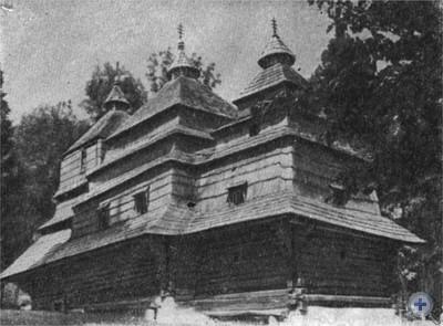 Памятник архитектуры XVIII в. — Предтеченская церковь. Сухой, 1980 г.