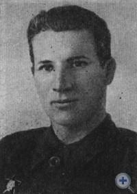 М. В. Андросов — помощник комиссара по комсомолу партизанского соединения дважды Героя Советского Союза С. А. Ковпака, 1945 г.