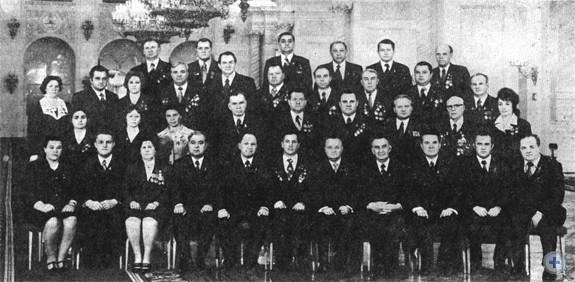 Делегаты XXV съезда КПСС от Запорожской областной партийной организации. Москва, 1976 г.