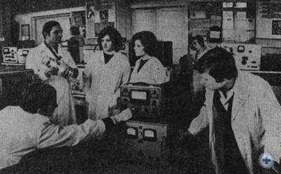 Урок по радиоделу в 9 классе Запорожской средней школы № 62 с производственным обучением. 1979 г.